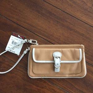 Danier leather wristlet